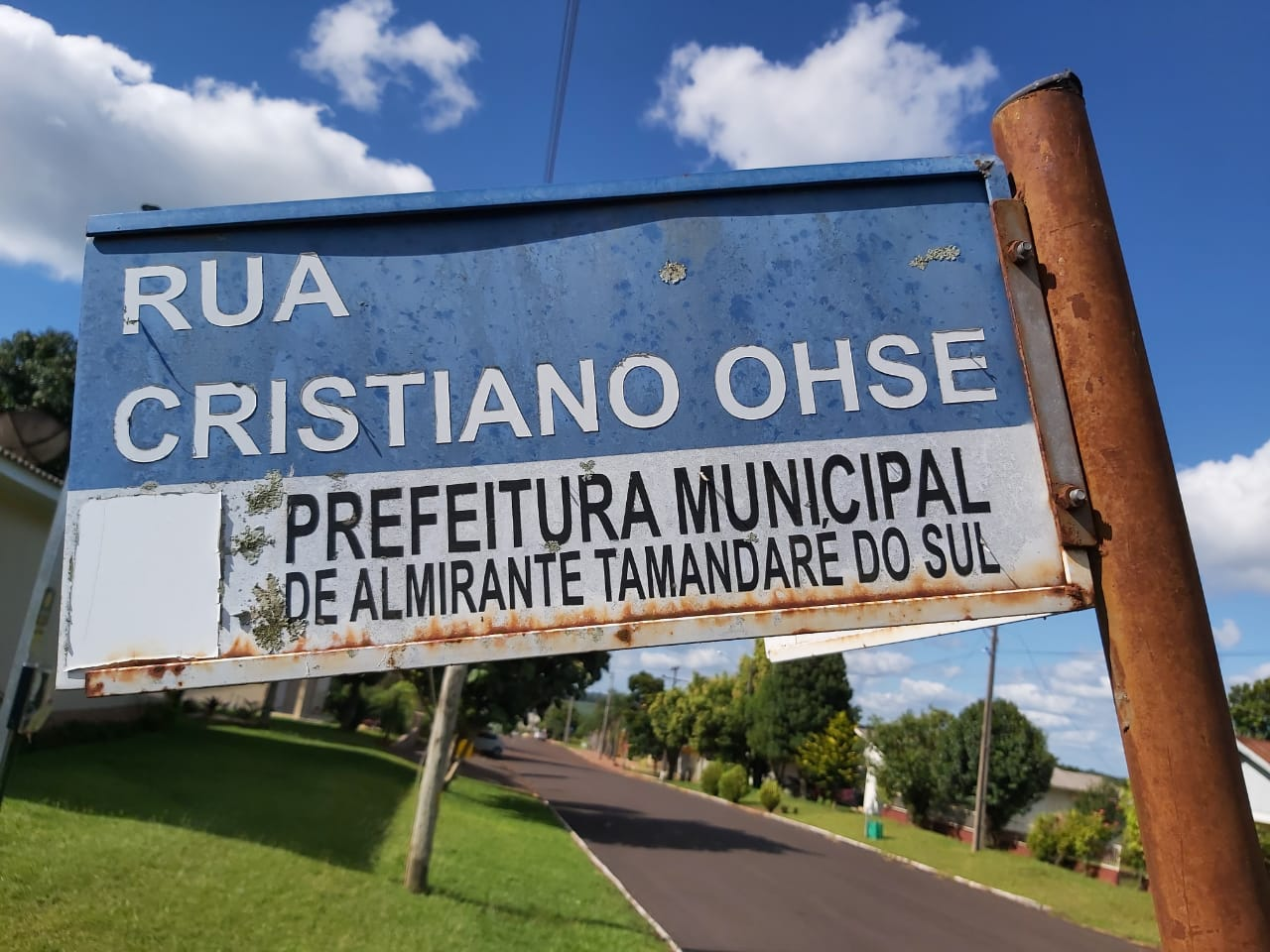 Rua Cristiano Ohse em Almirante Tamandaré do Sul Rws